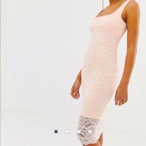 Vesper lace square neck bodycon dress